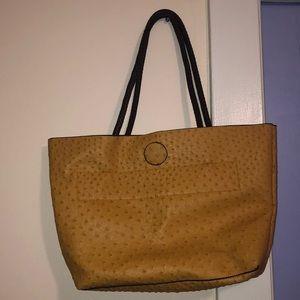 Ostrich Texture Tan Bag